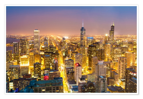 Premium-Poster Goldenes Chicago