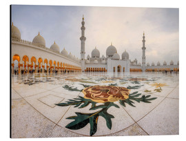 Alubild  Platz der Sheikh Zayed Grand Mosque