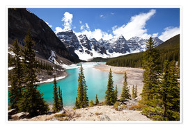 Premium-Poster Moraine Lake in Kanada