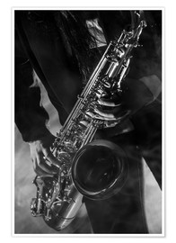Premium-Poster  Close up eines Saxophonisten