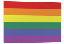 Hartschaumbild  Gay pride Flagge