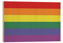 Holzbild  Gay pride Flagge