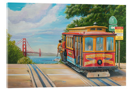 Acrylglasbild  To Golden Gate Bridge - Georg Huber