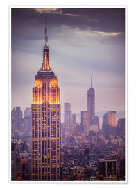 Premium-Poster  Empire State Building New York - Dennis Fischer
