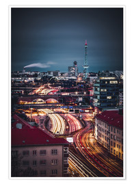 Premium-Poster Berlin City West Funkturm