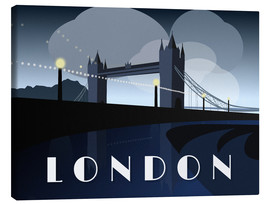 Leinwandbild  London Tower Bridge Art Deco Stil - Alex Saberi