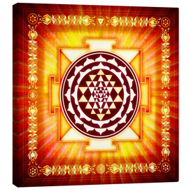 Leinwandbild  Sri Yantra Energy Light - Dirk Czarnota