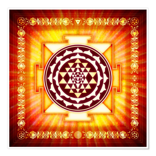 Premium-Poster Sri Yantra Energy Light
