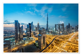 Premium-Poster Dubai City lights