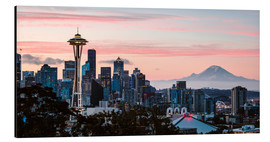 Alubild  Seattle mit dem Mount Rainier, USA - Matteo Colombo