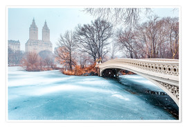 Premium-Poster Winter im Central Park II