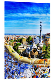 Acrylglas  Park Guell in Barcelona