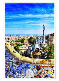 Premium-Poster  Park Guell in Barcelona