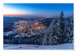 Premium-Poster Winter am Tegernsee
