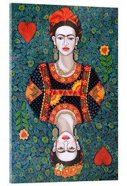 Acrylglasbild  Frida, queen hearts - Madalena Lobao-Tello