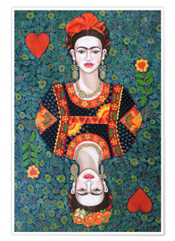 Premium-Poster Frida, queen hearts