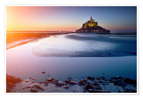 Premium-Poster Mont Saint Michel in Normandie