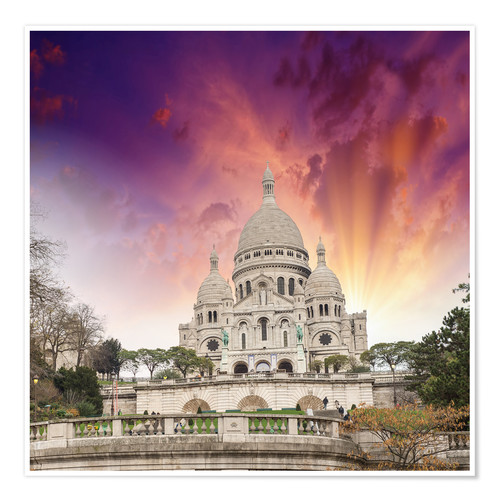 Premium-Poster Sacred Heart Cathedral in Montmartre
