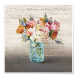 Premium-Poster French Cottage Bouquet II