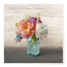 Premium-Poster French Cottage Bouquet I