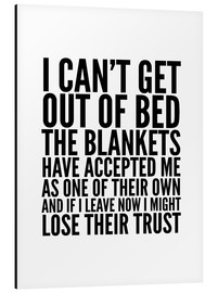 Alu-Dibond  I can't get out of bed - Creative Angel