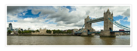 Premium-Poster Panorama Tower Bridge und Tower of London