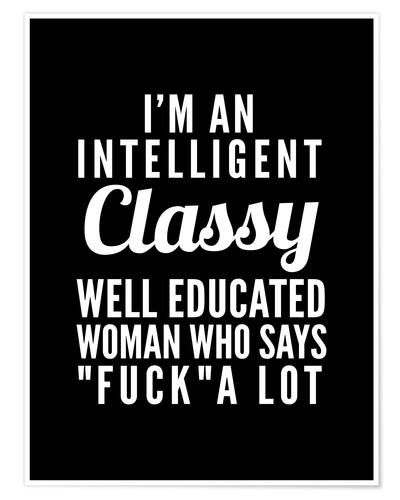 Premium-Poster Intelligent, classy, well educated woman