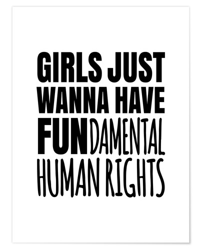 Premium-Poster FUNdamental human rights