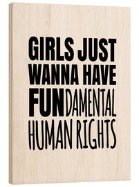 Holzbild  FUNdamental human rights - Creative Angel