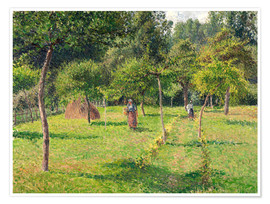 Poster  Obstgarten in Éragny - Camille Pissarro