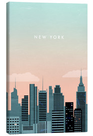 Leinwandbild  New York Illustration - Katinka Reinke