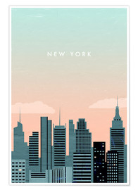 Premium-Poster  New York Illustration - Katinka Reinke