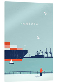 Acrylglas  Hamburg Illustration - Katinka Reinke
