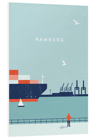 Hartschaumbild  Hamburg Illustration - Katinka Reinke
