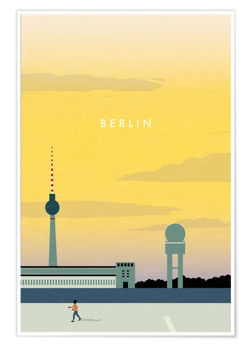 Premium-Poster Berlin - Tempelhofer Feld Illustration