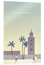 Acrylglasbild  Marrakesch Illustration - Katinka Reinke