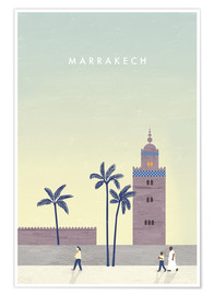 Premium-Poster Marrakesch Illustration