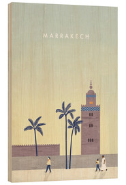 Holzbild  Marrakesch Illustration - Katinka Reinke