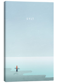 Leinwandbild  Sylt Illustration - Katinka Reinke