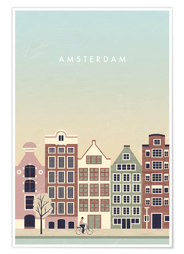 Premium-Poster Amsterdam Illustration