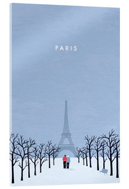 Acrylglasbild  Paris Illustration - Katinka Reinke
