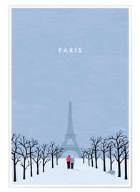Premium-Poster  Paris Illustration - Katinka Reinke