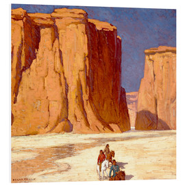 Forex  Indianer reiten durch Canyon de Chelly - Edgar Alwin Payne