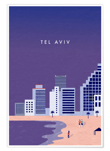 Premium-Poster Tel Aviv Illustration