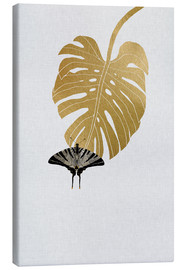 Leinwandbild  Schmetterling & Monstera - Orara Studio