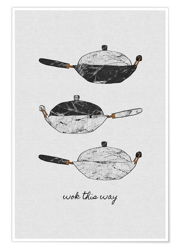 Premium-Poster Wok this way