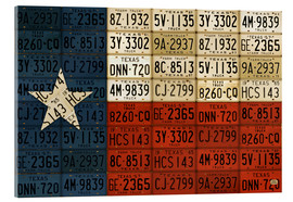 Acrylglas  Flagge von Texas License Plate Art - Design Turnpike