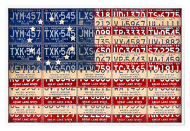 Premium-Poster Betsy Ross Flagge USA