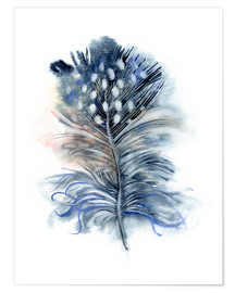 Premium-Poster  Feder blau - Verbrugge Watercolor