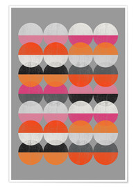 Premium-Poster  AROUND CIRCLES - Susana Paz